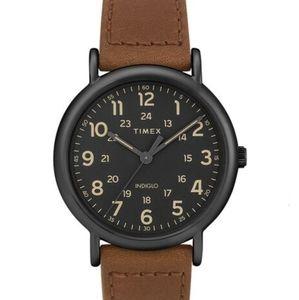 NWT Timex Men's Watch Weekender Brown and Black